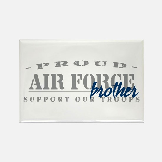Proud Air Force Brother (Blue) Rectangle Magnet