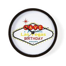 Have A Fabulous Las Vegas Bir Wall Clock