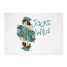 Jacks Wild 5'x7'Area Rug