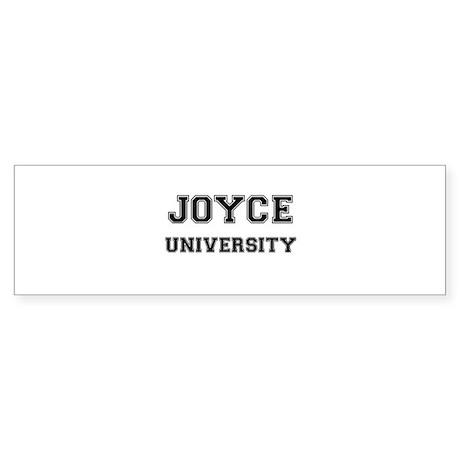 JOYCE UNIVERSITY Bumper Sticker