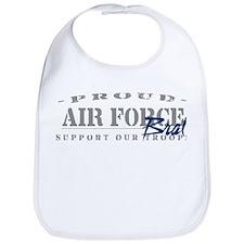 Proud Air Force Brat (Blue) Bib