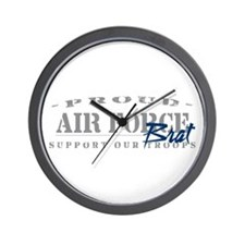 Proud Air Force Brat (Blue) Wall Clock
