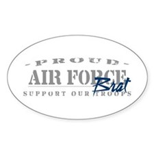 Proud Air Force Brat (Blue) Oval Decal