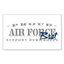Proud Air Force Brat (Blue) Rectangle Decal