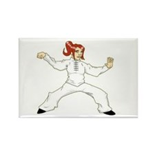 Cute Tai chi Rectangle Magnet (10 pack)