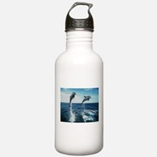 Twin Dolphins Water Bottle