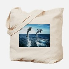 Twin Dolphins Tote Bag