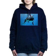 Orca Whale and Calf Women's Hooded Sweatshirt