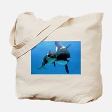 Orca Whale and Calf Tote Bag
