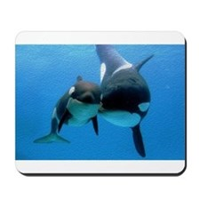 Orca Whale and Calf Mousepad