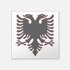 """Albanian Eagle Square Sticker 3"""" x 3"""""""