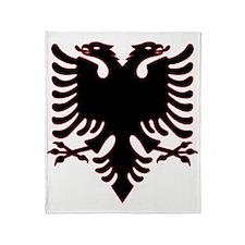 Albanian Eagle Throw Blanket