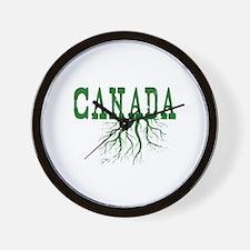 Canada Roots Wall Clock