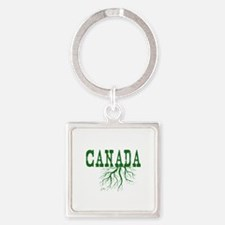 Canada Roots Square Keychain