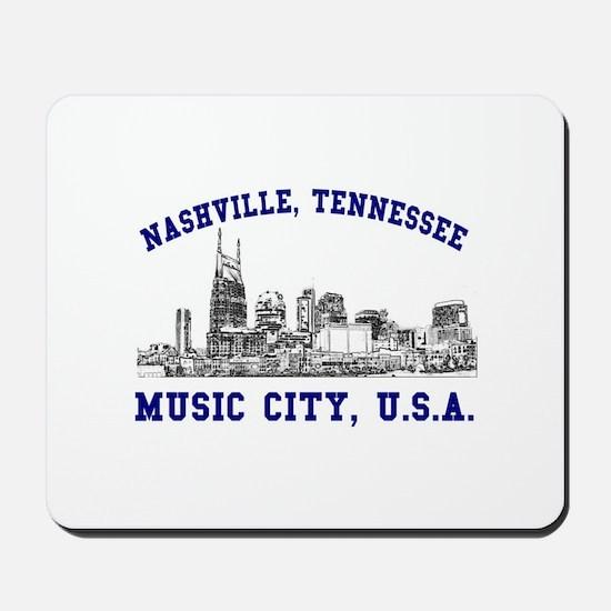 Nashville . . . Music City US Mousepad