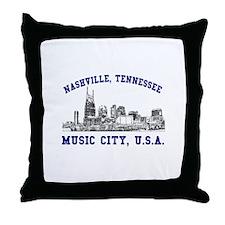 Nashville . . . Music City US Throw Pillow