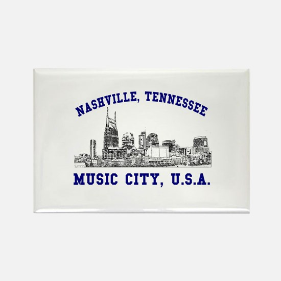Nashville . . . Music City US Rectangle Magnet