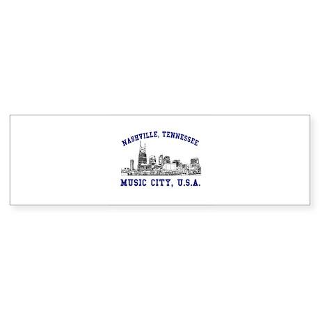 Nashville . . . Music City US Bumper Sticker