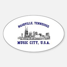 Nashville . . . Music City US Oval Decal