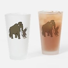 Woolly Mammoth And Bigfoot Drinking Glass