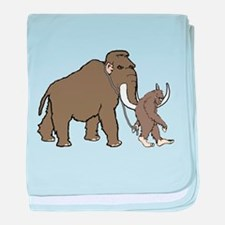 Woolly Mammoth And Bigfoot baby blanket
