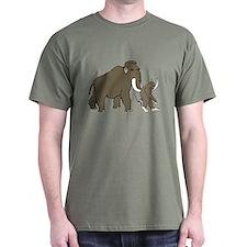 Woolly Mammoth And Bigfoot T-Shirt