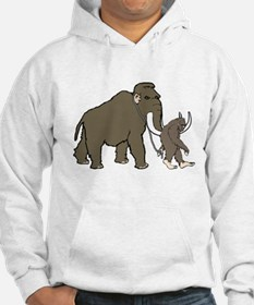 Woolly Mammoth And Bigfoot Hoodie