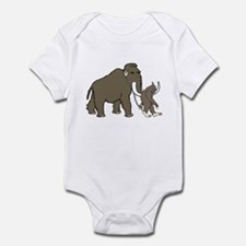 Woolly Mammoth And Bigfoot Infant Bodysuit