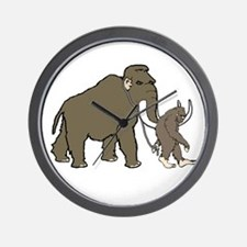 Woolly Mammoth And Bigfoot Wall Clock