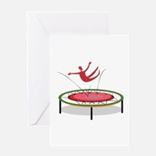 Trampoline Greeting Cards