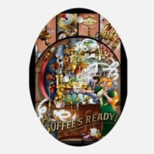Coffee Engine Ornament (oval)