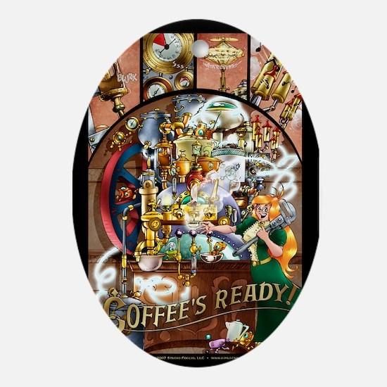 Coffee Engine Ornament (oval)