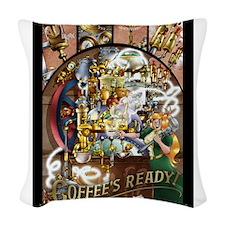 Spark Roast Coffee Woven Throw Pillow