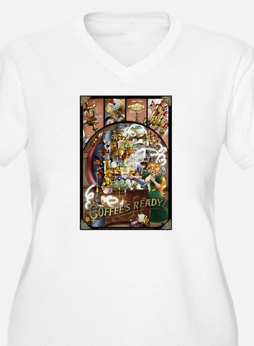 Coffee Engine Plus Size T-Shirt