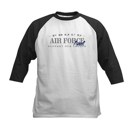 Proud Air Force Aunt (Blue) Kids Baseball Jersey