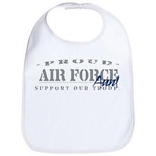Proud Air Force Aunt (Blue) Bib