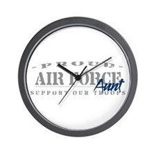Proud Air Force Aunt (Blue) Wall Clock