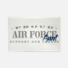 Proud Air Force Aunt (Blue) Rectangle Magnet