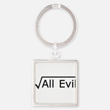 Root of All Evil - Math Joke Square Keychain