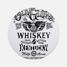 whiskey,whisky, booze, beer, kent Ornament (Round)