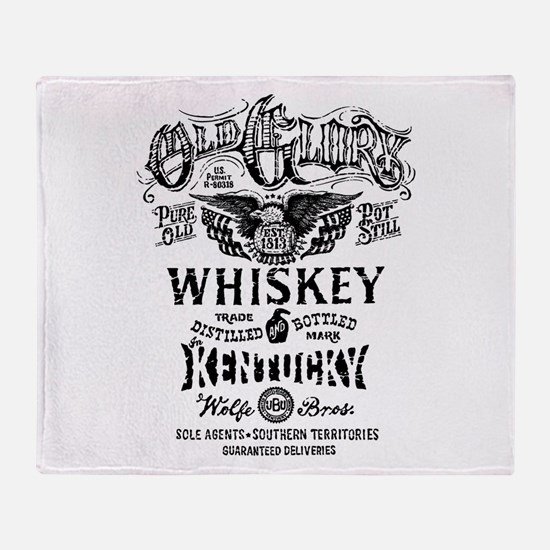 whiskey,whisky, booze, beer, kentuck Throw Blanket