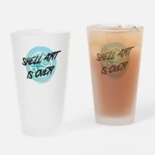 Shell art is over Drinking Glass