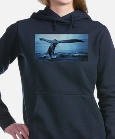 Whale Fluke Women's Hooded Sweatshirt