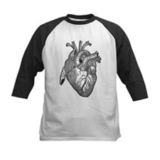 Anatomical Heart - Black Baseball Jersey