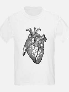 Anatomical Heart - Black T-Shirt