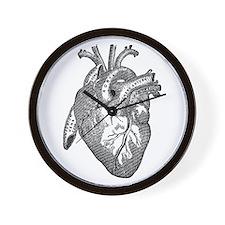 Anatomical Heart - Black Wall Clock