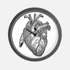 Anatomical Heart - Black Wall Clock