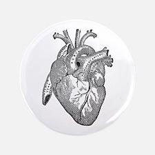 "Anatomical Heart - Black 3.5"" Button"