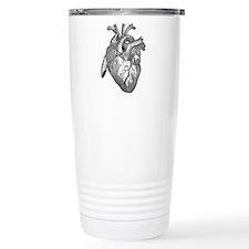 Anatomical Heart - Black Travel Mug