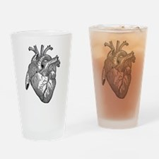 Anatomical Heart - Black Drinking Glass